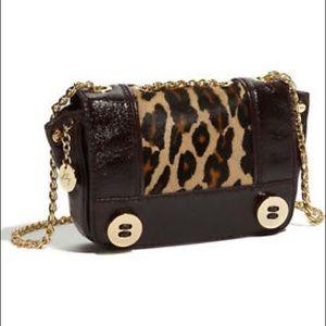 MILLY Calf Hair Crossbody Purse Handbag